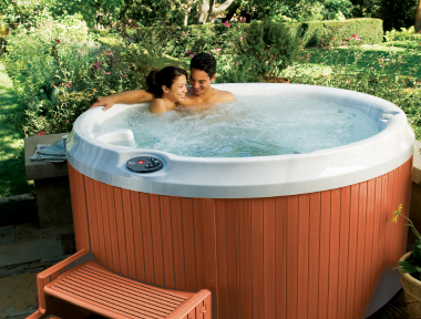 J210 Jacuzzi hot tub outside
