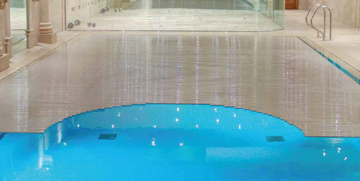 curved swimming pool cover