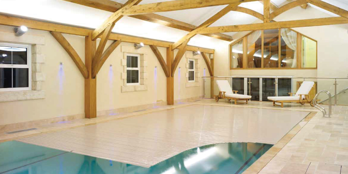 Indoor pool with cover